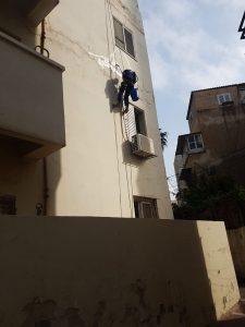 איטום בסנפלינג של קירות חיצונים
