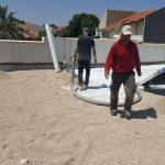תהליך איטום גג מרוצף